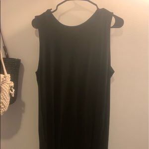 Black Dress with Cut off sleeve
